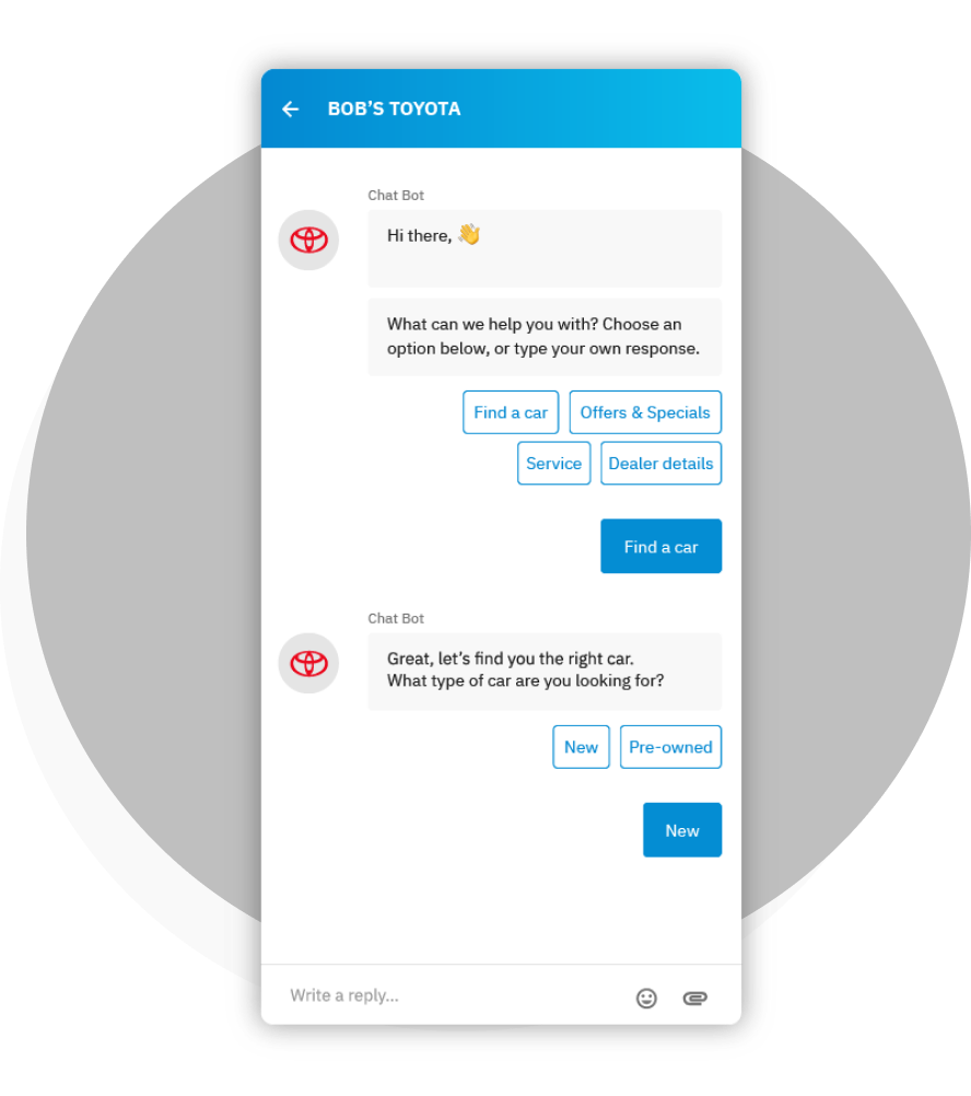 AutoLeadStar's Connect chatbot manages your chat conversations with top tier service and superior response time